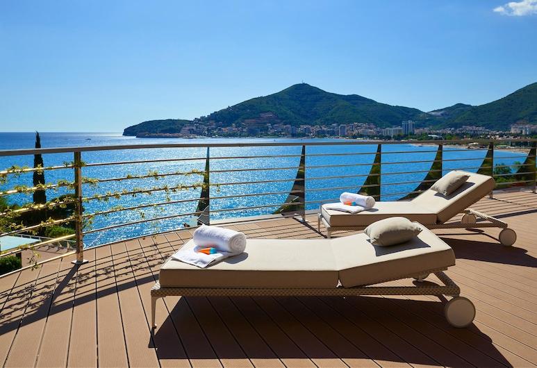 Dukley Hotel & Resort, Budva, Luxury Penthouse, 3 Bedrooms, Sea View, Terrace/Patio