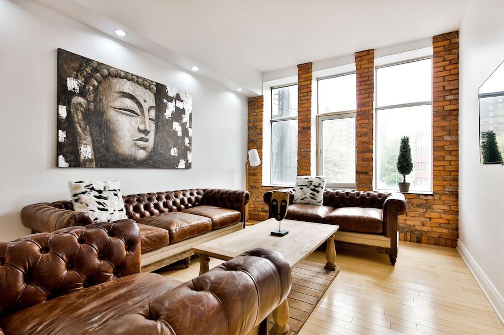 Apartament luksusowy, 2 sypialnie, dla niepalących, widok na miasto - Powierzchnia mieszkalna
