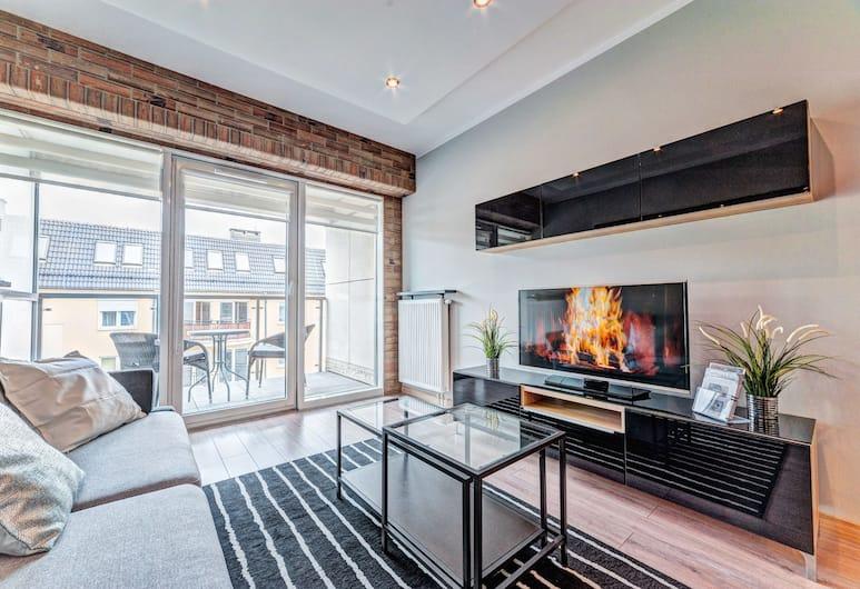 Apartamenty Homely Place City, Poznan, Apart Daire (Everest), Oturma Odası
