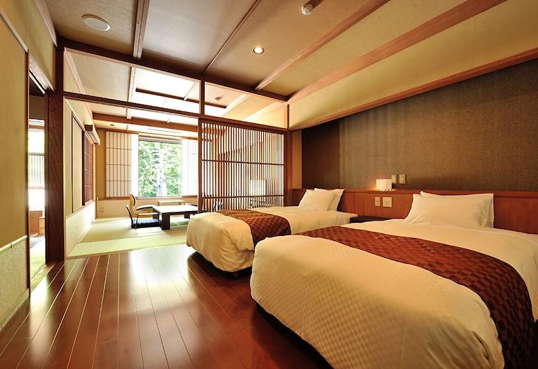 Hinanoyado Chitose, Tókamači, Tradiční hotelový pokoj, bezbariérový přístup (Deluxe, Tatami with Open-Air Bath), Pokoj