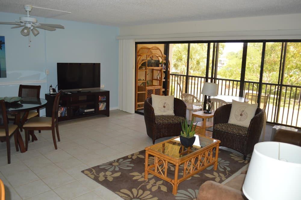 舒適公寓客房, 2 間臥室, 運河景 - 客廳