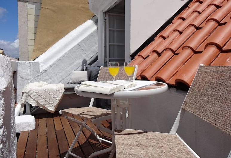 Olivier Apartments - Downtown Lisbon, Lisboa, Leilighet – panoramic, 2 soverom, terrasse, utsikt mot byen, Terrasse/veranda