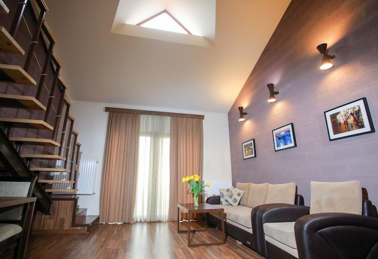 My Apartments Yerevan, Yerevan, Standaard appartement, 1 slaapkamer, Balkon, Uitzicht op de stad (No. 51), Woonruimte