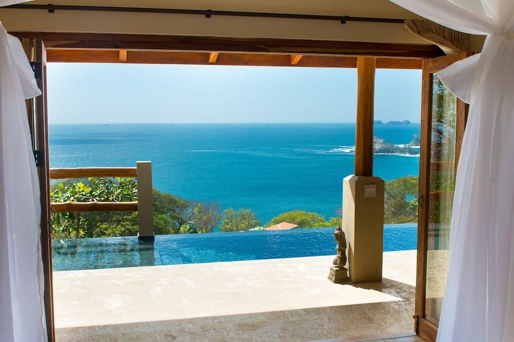 Romantische Villa, 1 Schlafzimmer, eigener Pool, Meerblick - Ausblick vom Zimmer