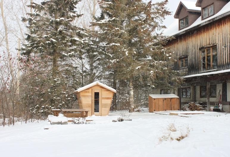 La Grange Country Inn, La Pêche, Habitación, 1 cama Queen size, baño compartido (La Peche), Terraza o patio