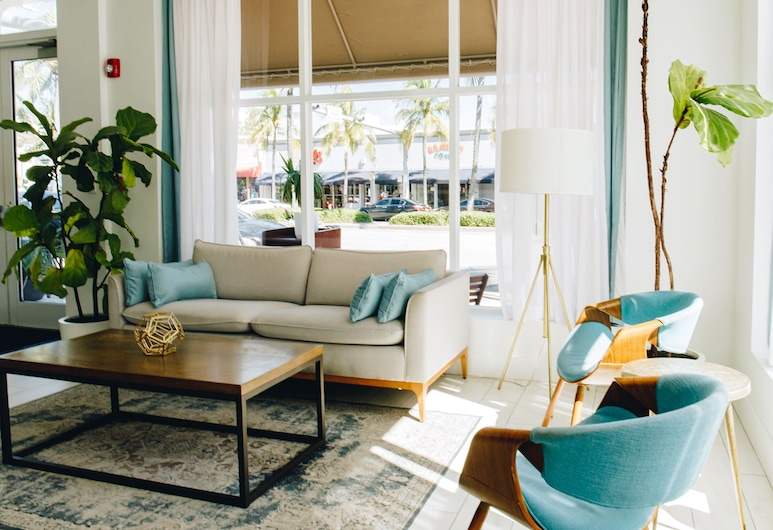 Casa Boutique Hotel, Маямі-Біч, Лаундж у вестибюлі