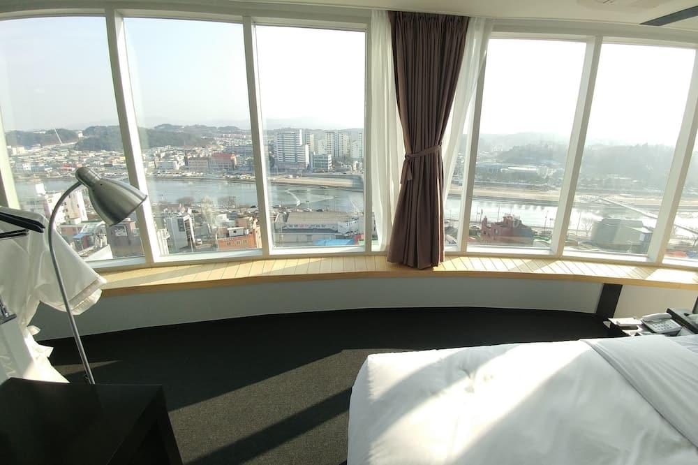 Deluxe tweepersoonskamer, 1 slaapkamer, Uitzicht op de stad - Kamer