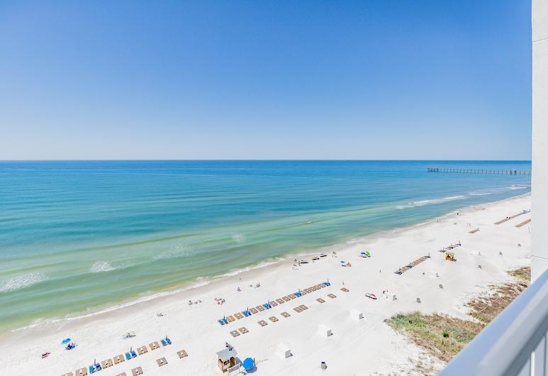 Hampton Inn & Suites Panama City Beach-Beachfront, Panama City Beach, Studio, 1King-Bett, barrierefrei, Nichtraucher (mob/hearing acc w/ roll-in shower), Balkon