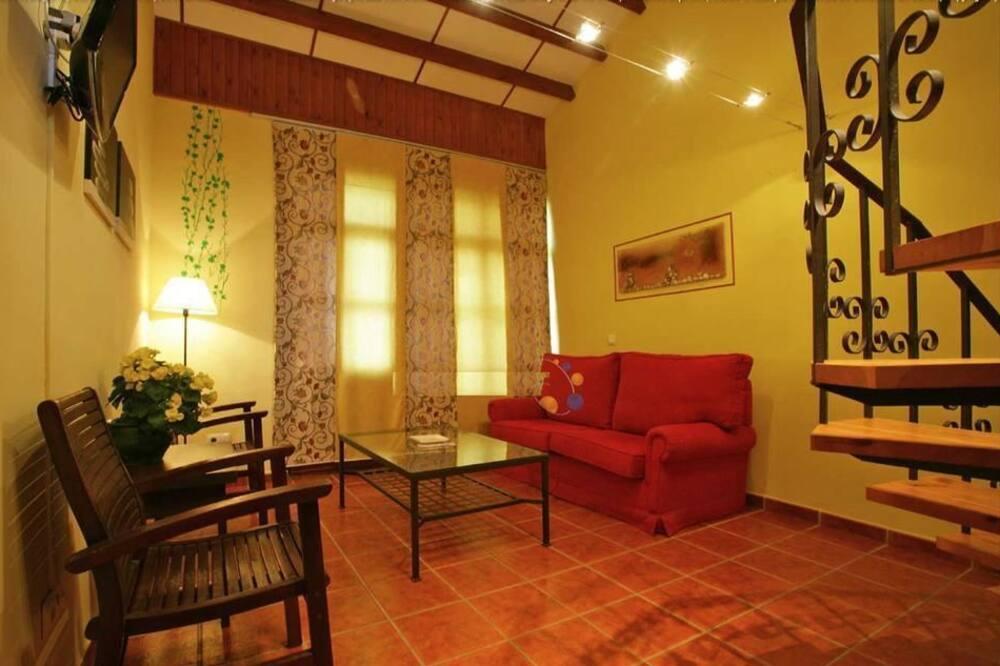 apartman, 1 hálószobával, terasz - Nappali rész