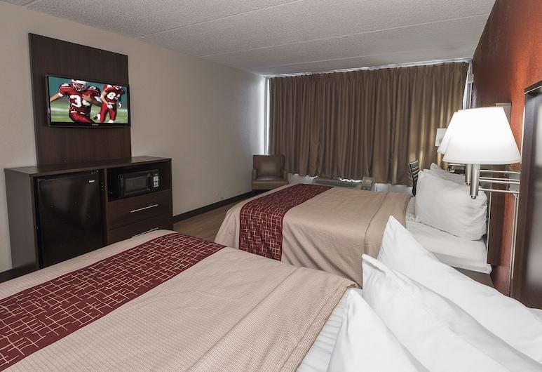Red Roof Inn Cortland, Cortland, Liukso klasės kambarys, 2 standartinės dvigulės lovos, Nerūkantiesiems, Svečių kambarys