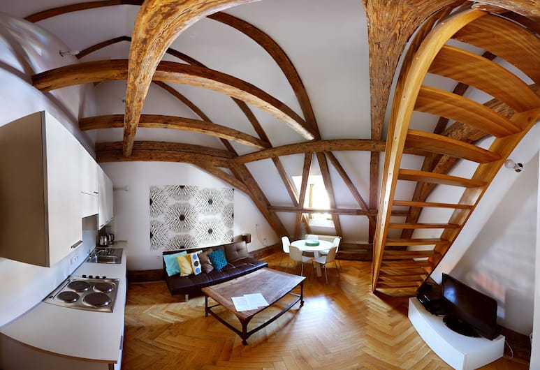 Three Golden Crowns Apartments, Praha, Family külaliskorter, 2 magamistoaga, köögiga, Lõõgastumisala