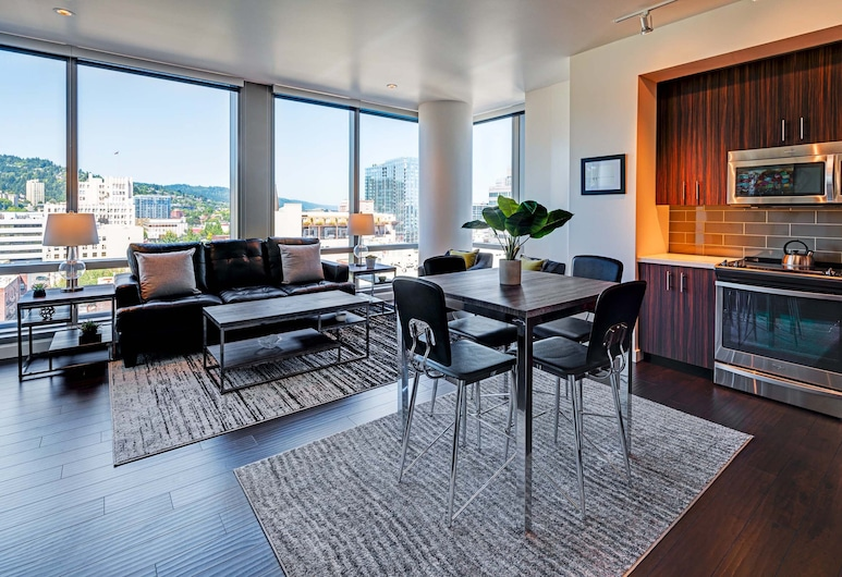 Stay Alfred at Park Avenue West , Portland, Appartement Standard, 1 chambre, Coin séjour