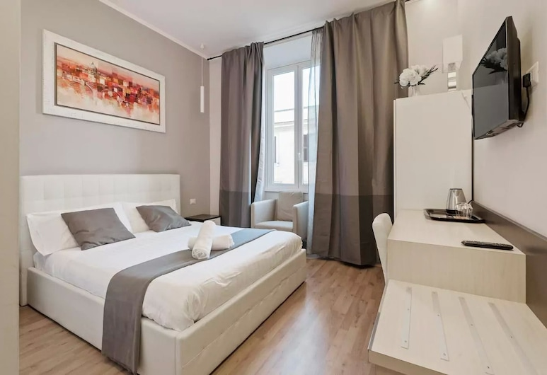 Kaydee Guest House, Rome, Comfort Double Room, 1 Queen Bed, Non Smoking, Private Bathroom, Guest Room