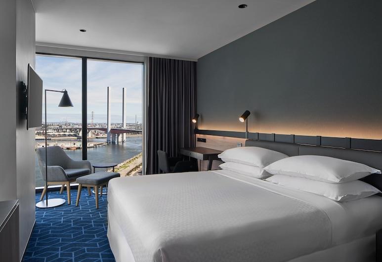 墨爾本濱海港區喜來登福朋飯店, 碼頭區, 豪華客房, 1 張特大雙人床, 海灣景觀, 客房
