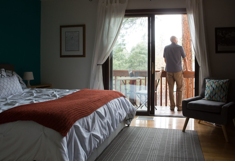 Pueblo Canyon Inn, Λος Άλαμος, Comfort Μονόκλινο Δωμάτιο, 1 Queen Κρεβάτι, Δωμάτιο επισκεπτών