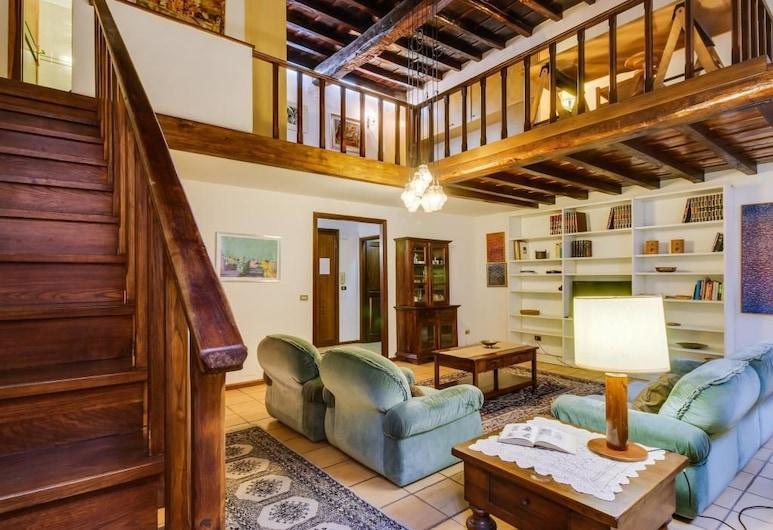 Trastevere Moro Apartment, Rome, Apartment, 2 Bedrooms, Living Area