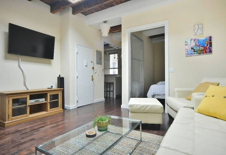 NY001 3 Bedroom Apartment By Senstay, New York, Appartement, 3 chambres, avec vue, Coin séjour