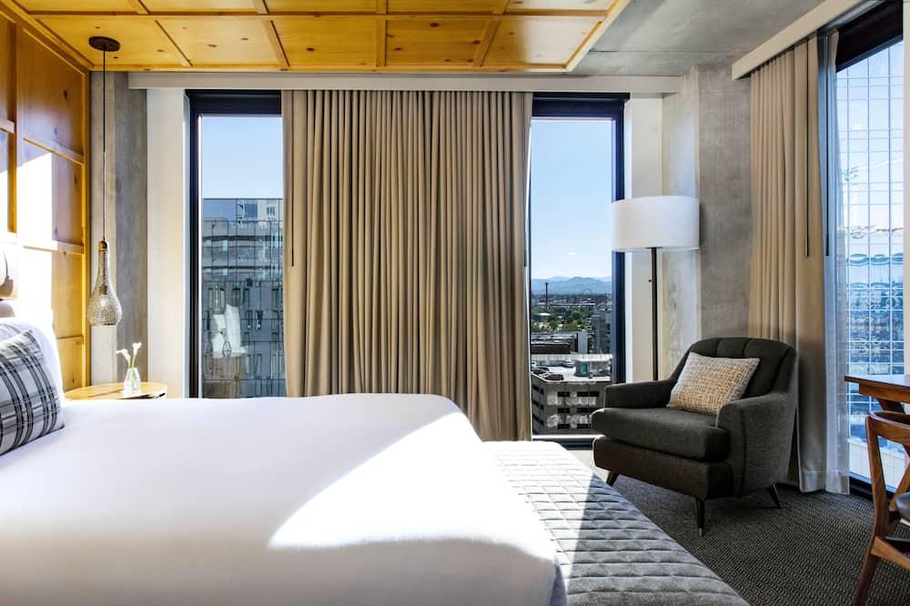 Soba, 1 king size krevet (Alpine, Spa) - Pogled na planinu