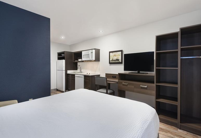 北達拉斯伍德斯普林套房飯店, 達拉斯, 標準開放式客房, 1 張加大雙人床, 非吸煙房, 廚房, 客房