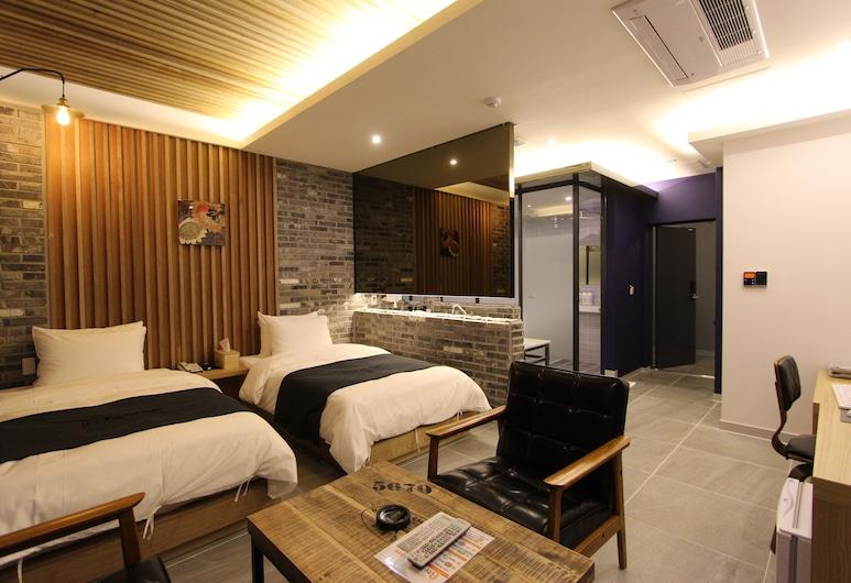 Instar Hotel, Daegu, Deluxe İki Ayrı Yataklı Oda, Oda