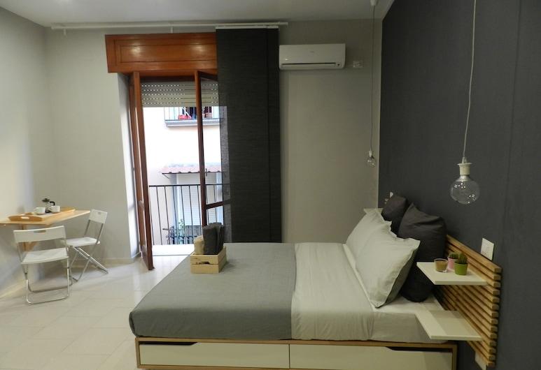 Mola Rooms, Napoli, Firemannsrom – family, 1 soverom, eget bad, utsikt mot byen, Balkong
