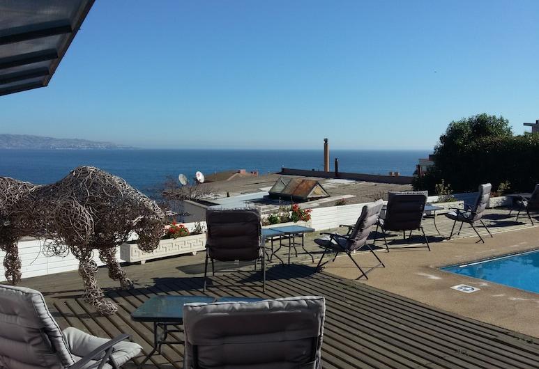 Hotel Camino del Alto, Viña del Mar, Pool på tagterrassen