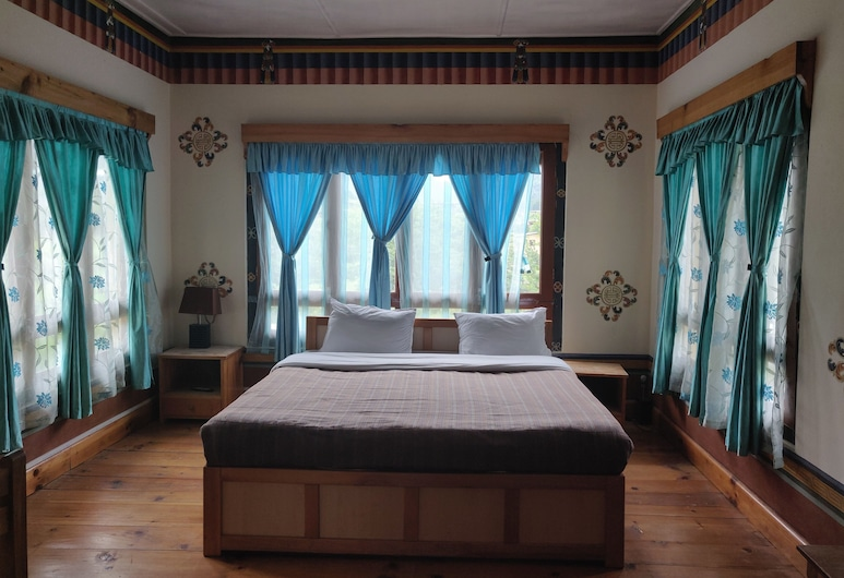 Nirvana Lodge & Homestay, Paro, Chambre Deluxe Double ou avec lits jumeaux, 1 chambre, vue montagne, Chambre
