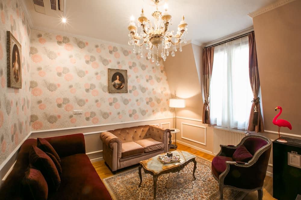 Paaugstināta komforta luksusa numurs, viena guļamistaba, privāta vannasistaba - Dzīvojamā istaba