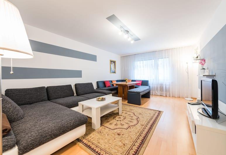 アパートメント シュヴェーデンプラッツ, ウィーン, シティ アパートメント 2 ベッドルーム (Top 7), リビング ルーム