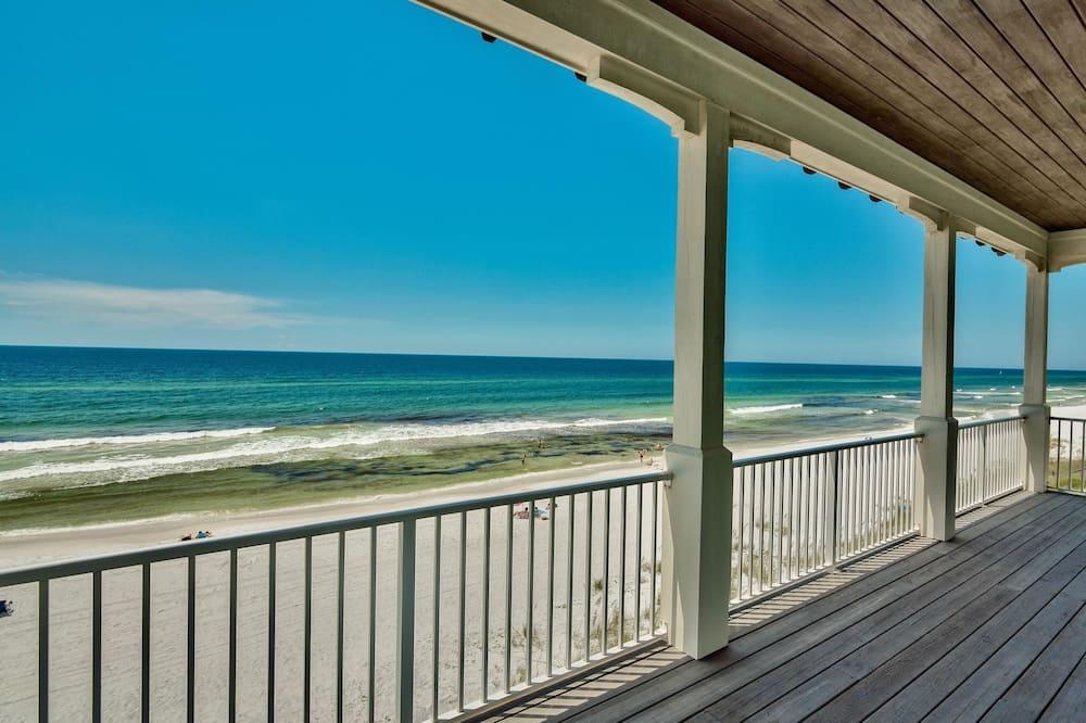 Casa, 5 Quartos, Vista Oceano, Em frente à praia - Varanda