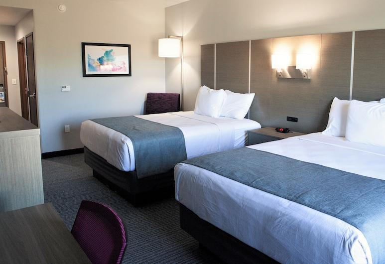 休士頓西北賽普勒斯溫德姆戴斯套房飯店, 休斯頓, 客房, 2 張加大雙人床, 非吸煙房, 客房