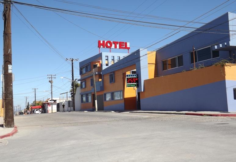 Hotel Los Altos, Tijuana, Voorkant hotel