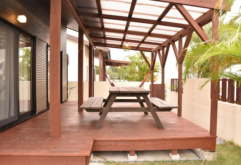 Churaumi Village, Motobu, Extra Type of the 2nd Village(2Double beds ,Japanese Futons are arranged for 3rd & more guest), Terrace/Patio