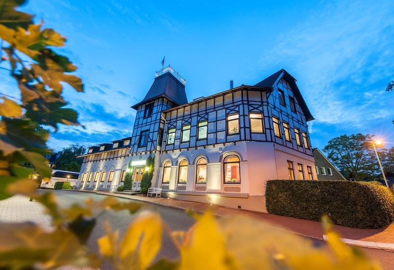 Hotel Birke - Appartments Waldesruh, Kiel, Fachada do Hotel - Tarde/Noite