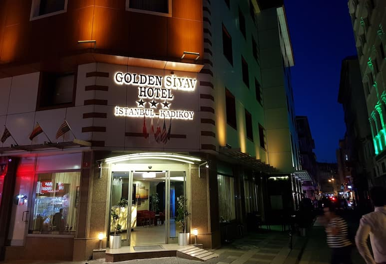 Golden Siyav Hotel, Istanbul, Hotel Front – Evening/Night
