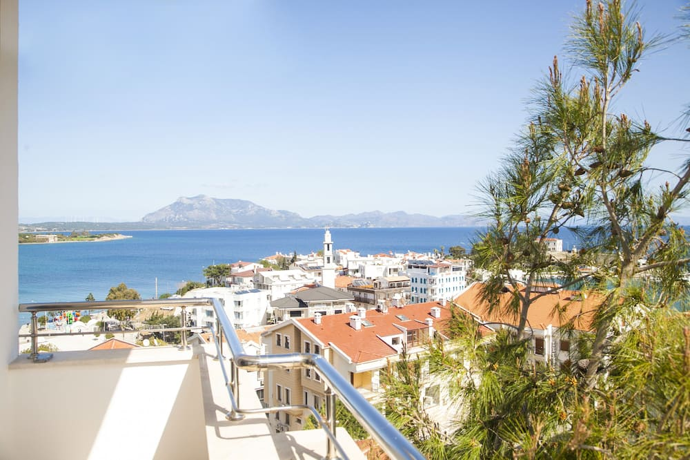 Gazdaságos apartman, részleges kilátással a tengerre - Erkély
