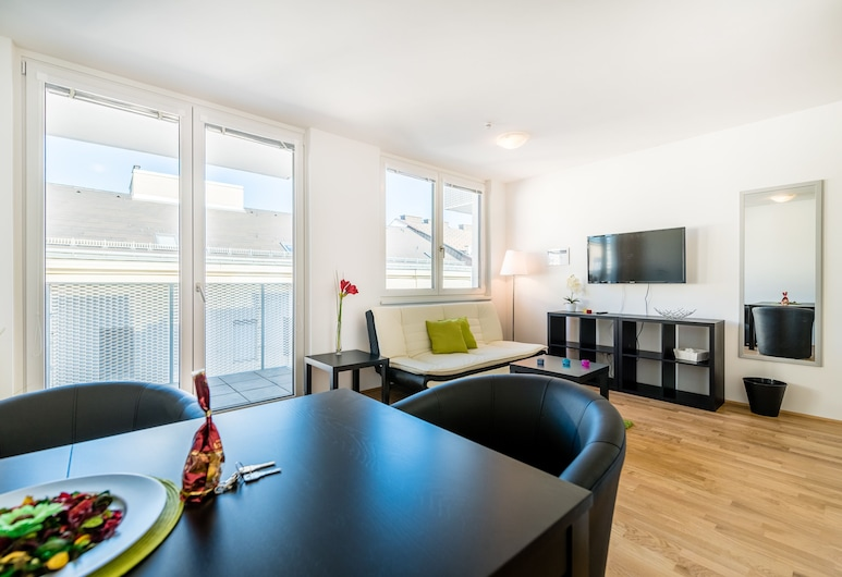 Duschel Apartments Wien-Hauptbahnhof, Viena, Apartamento, 1 quarto, Sacada (TOP34), Quarto