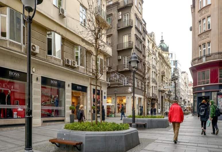 Privilege Suites by Central Park, Belgrad, Comfort Tek Büyük veya İki Ayrı Yataklı Oda, Şehir Manzaralı, Sokak Manzarası