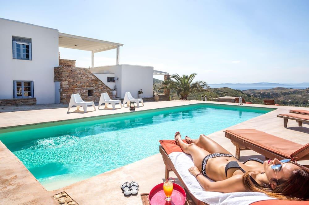 Villa, 6Schlafzimmer, eigener Pool, Meerblick (Kea & Petra) - Außenpool