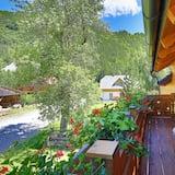 Familienapartment, 2Schlafzimmer, Balkon, Gartenblick - Balkon