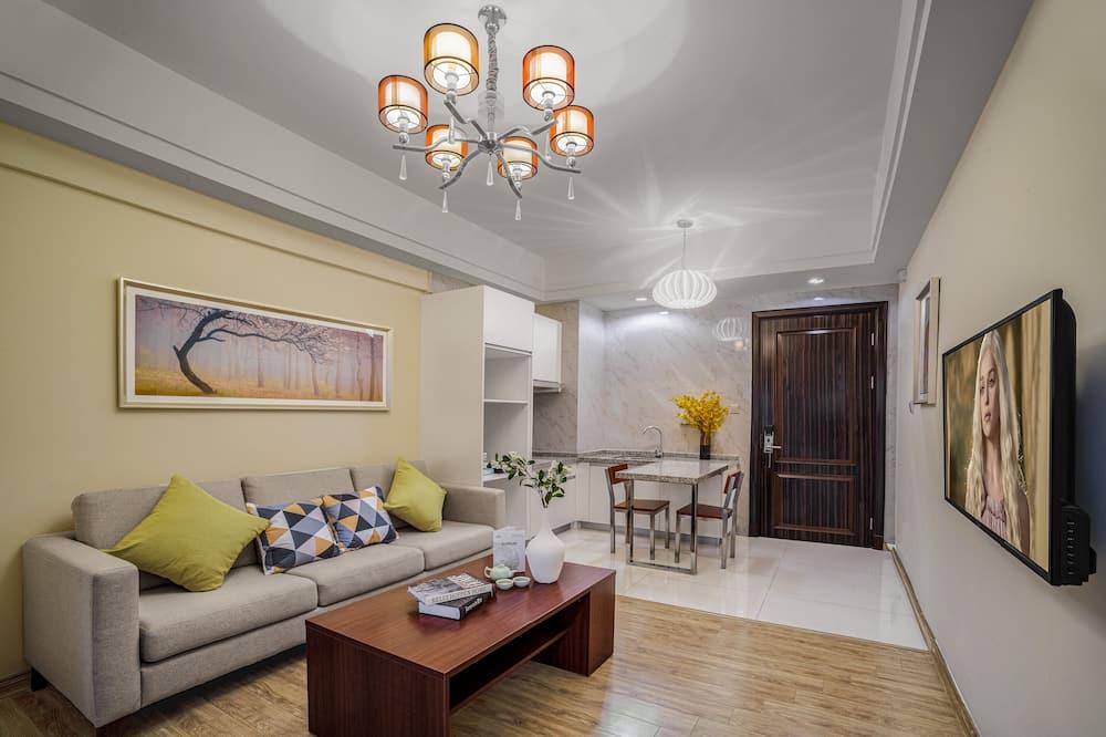 Business-Suite, Balkon - Wohnbereich