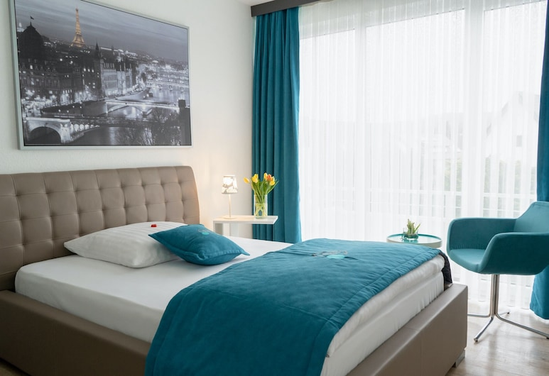 Friends Hotel Bad Salzuflen, Bad Salzuflen, Habitación individual Confort, 1 cama Queen size, balcón, Habitación