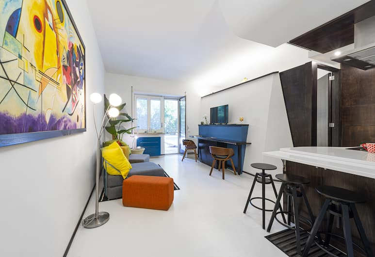 The Pool House Suite, Sorrent, Apartment, 1 Schlafzimmer, Wohnbereich