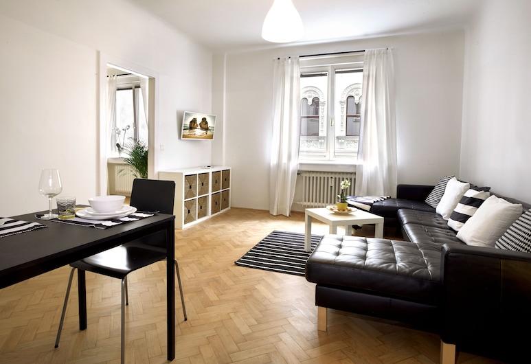 Opera Street Apartments, Viena, Apartamento urbano, 1 quarto (Black & White), Sala