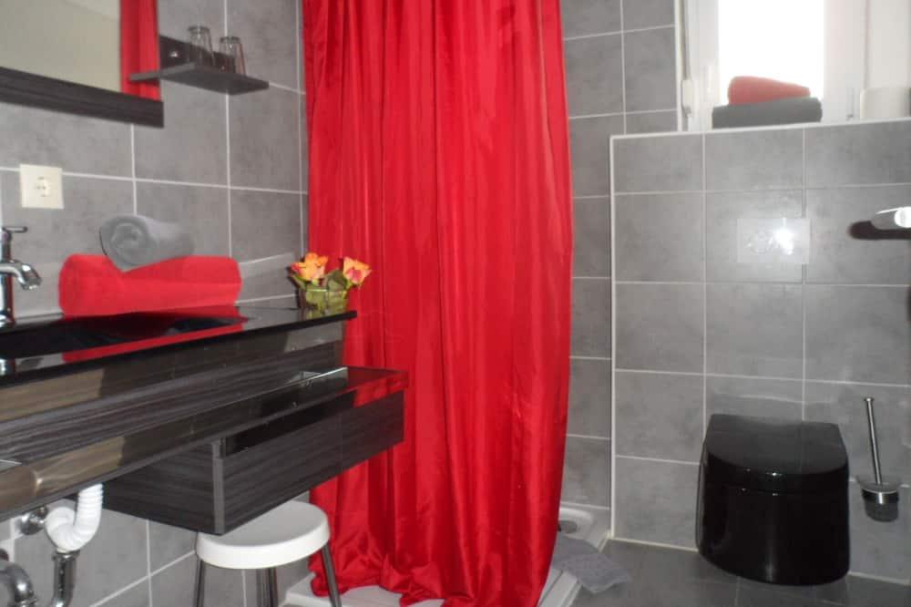 豪華開放式客房, 私人浴室, 花園景 (Studio 4 Schwarz) - 浴室