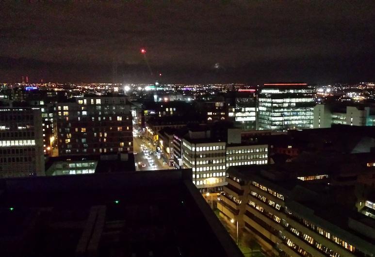 Glasgow Central Skyline Apartment, Glasgow, Apartamentai, 2 miegamieji, balkonas, vaizdas į miestą, Kambarys