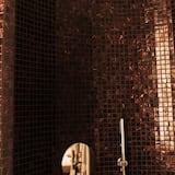 エコノミー ダブルルーム (1 名様利用) 1 ベッドルーム 専用バスルーム シティビュー - バスルーム