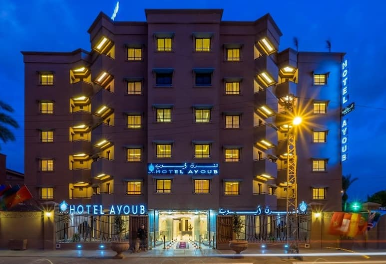 Ayoub Hotel & Spa, Marrakesh, Facciata hotel (sera/notte)