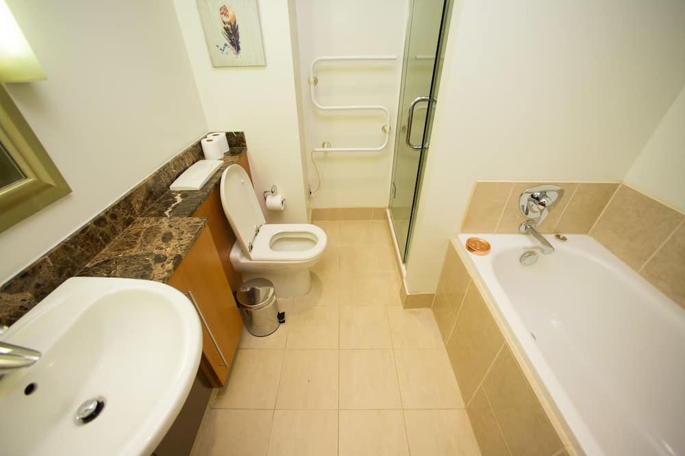 開放式套房, 1 張加大雙人床, 海濱風景 - 浴室