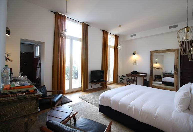 Casa Blanca B&B, Bordeaux, Deluxe Double Room, Terrace, Guest Room